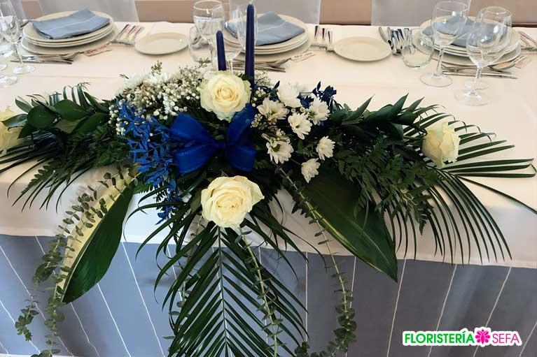 Boda familiar celebrada en Barreiros y decorada por floristería Sefa